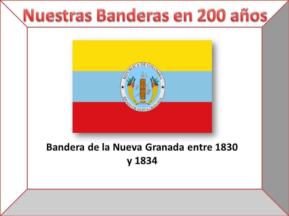 Bandera de la Nueva Granada entre 1830 y 1834
