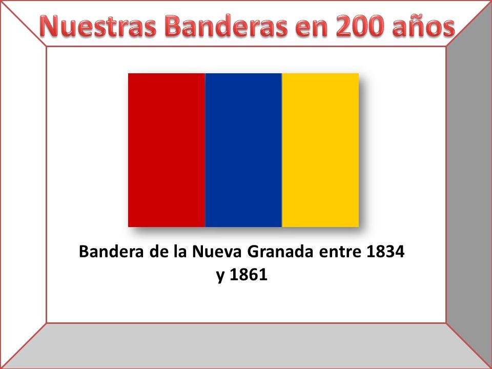Bandera de la Nueva Granada entre 1834 y 1861
