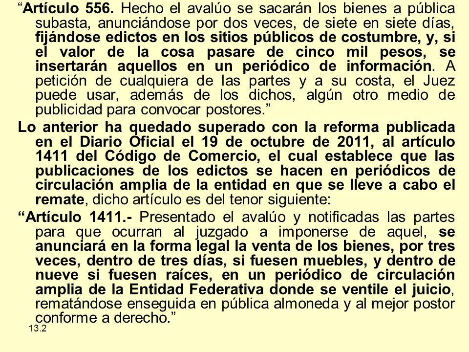 13.2 Artículo 556.