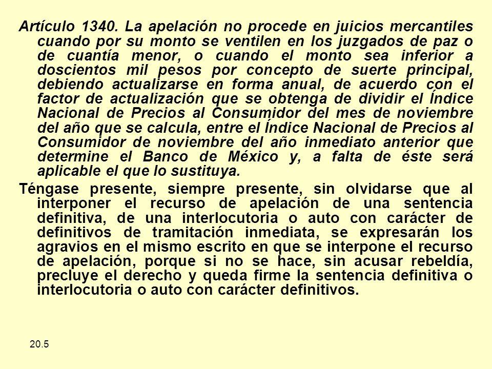 20.5 Artículo 1340.