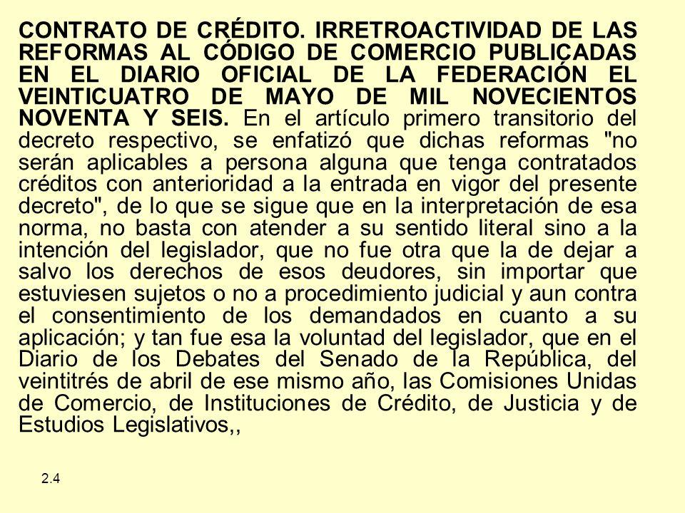 2.4 CONTRATO DE CRÉDITO.