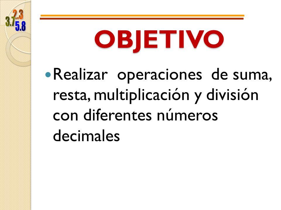 Representación Grafica de los Decimales.