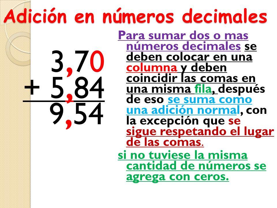 Completa la tabla Número decimal Fracción decimal Se lee 2,5 12,520 20, 1250 Veintiún enteros Doce milésimos Cinco enteros, cinco centésimos 2 1.000 6