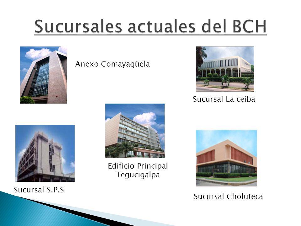 Anexo Comayagüela Sucursal La ceiba Sucursal Choluteca Sucursal S.P.S Edificio Principal Tegucigalpa
