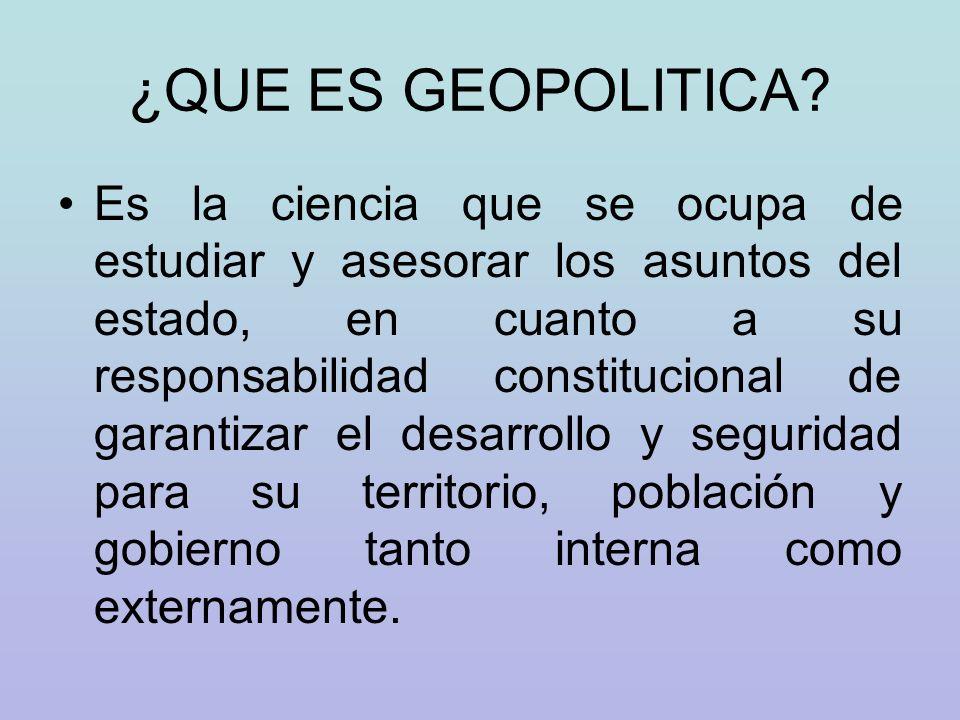 UTILIDAD DE LA GEOPOLITICA Facilita la toma de decisiones en la actividad económica.