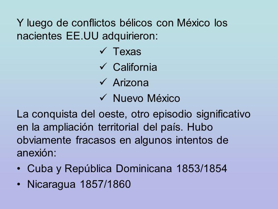 CRONOLOGÍA DE HITOS EN LA HISTORIA DE LOS EEUU DE N.A.