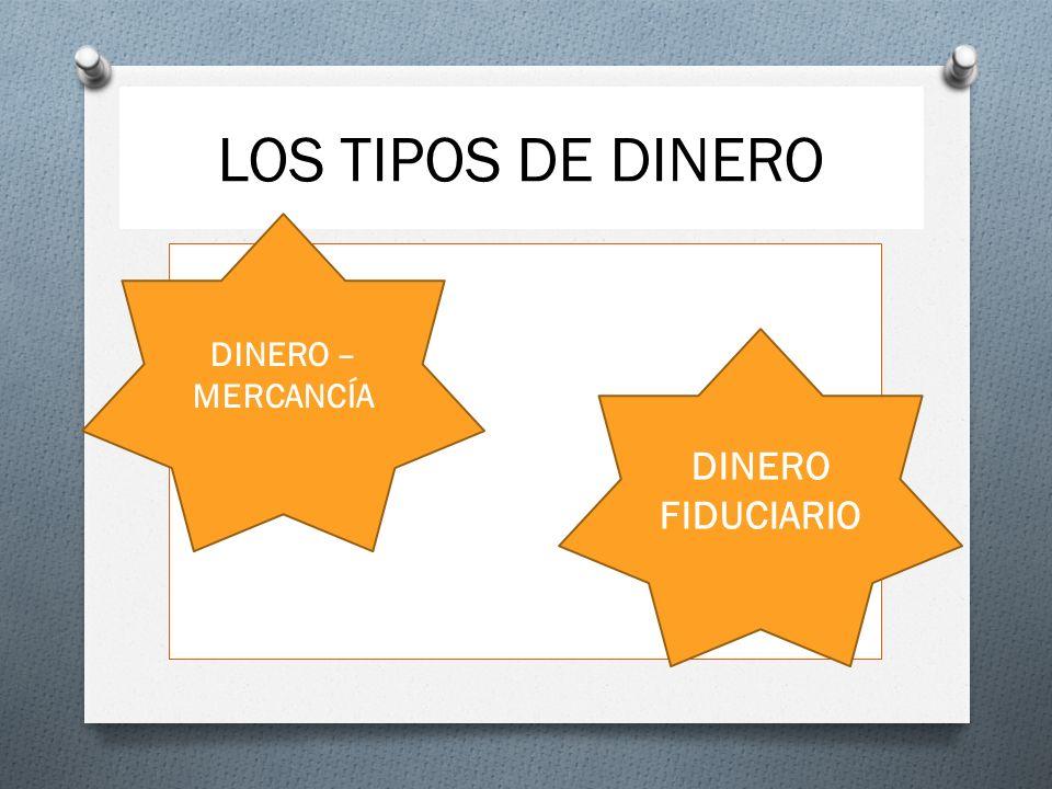 LOS TIPOS DE DINERO DINERO – MERCANCÍA DINERO FIDUCIARIO