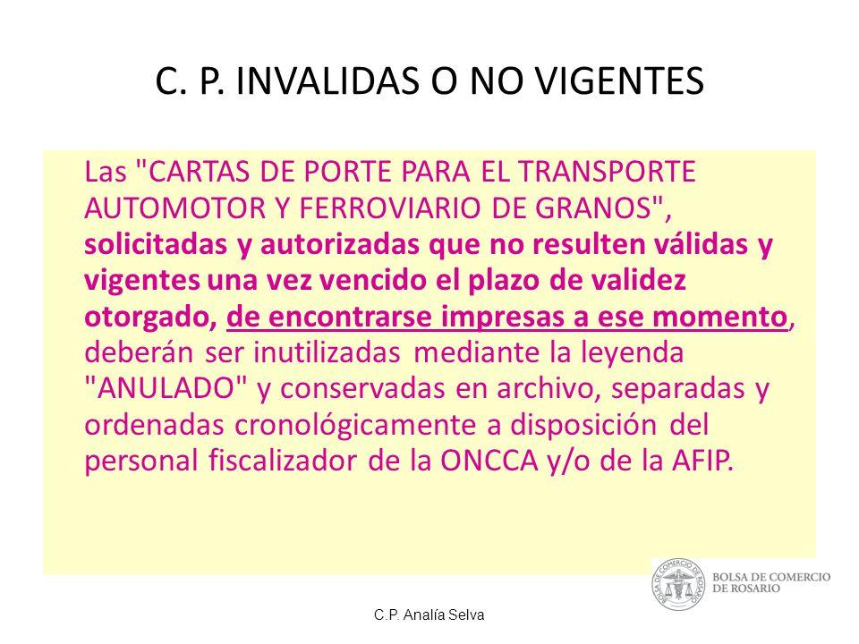 C.P.Analía Selva C. P.
