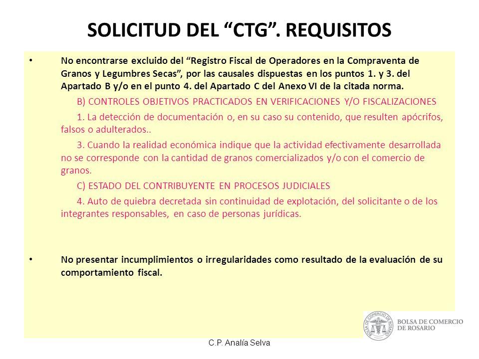 C.P.Analía Selva SOLICITUD DEL CTG.