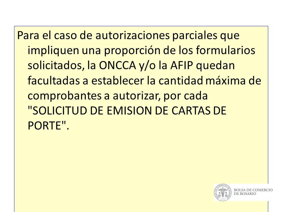 C.P.Analía Selva AUTORIZACIONES PARCIALES. DENEGATORIA.