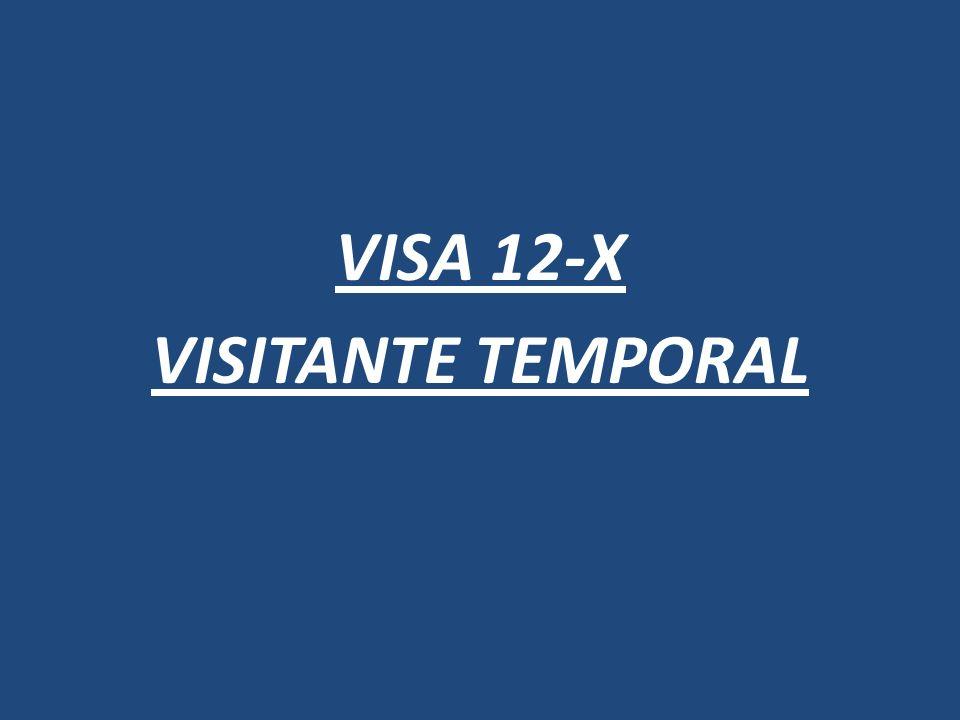 VISA 12-X VISITANTE TEMPORAL