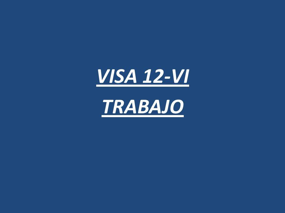 VISA 12-IX TURISMO-DEPORTE-SALUD- ESTUDIOS-CIENCIA-ARTE- ACTOS DE COMERCIO (ÓPTIMA PARA ENTRADA)