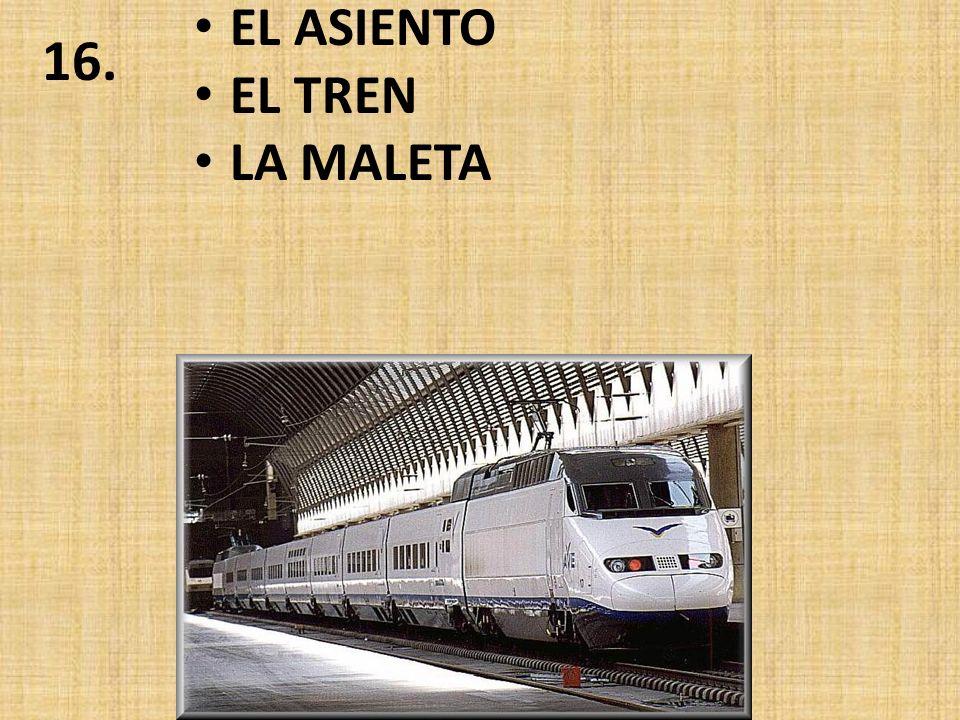 EL EQUIPAJE LA MALETA EL BOLETO SENCILLO 15.