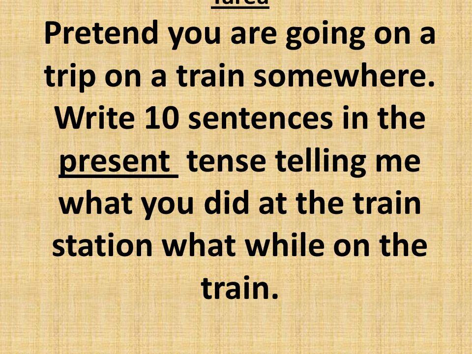 29. ¿De dónde sale el tren a. De la ventanilla b. Del andén c. Del taberlo