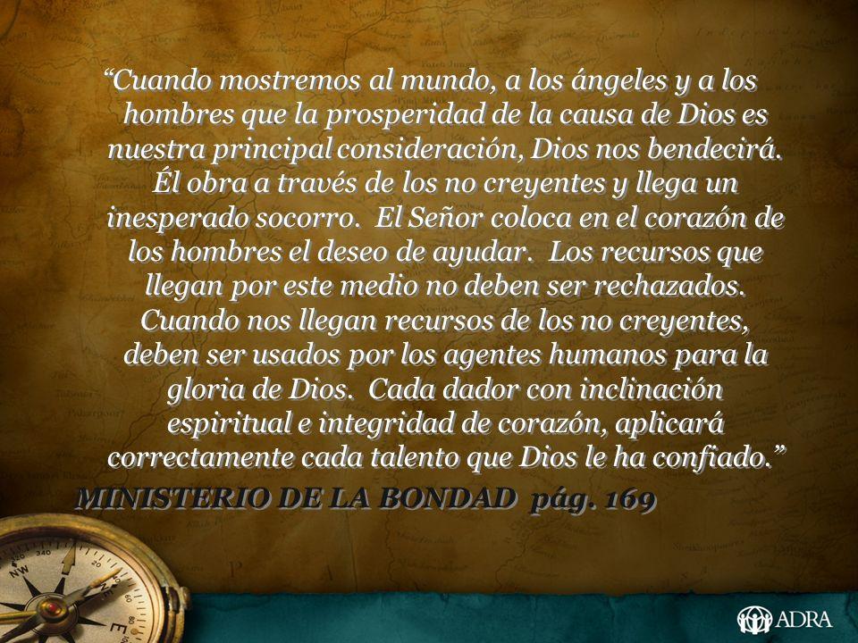 Cuando mostremos al mundo, a los ángeles y a los hombres que la prosperidad de la causa de Dios es nuestra principal consideración, Dios nos bendecirá