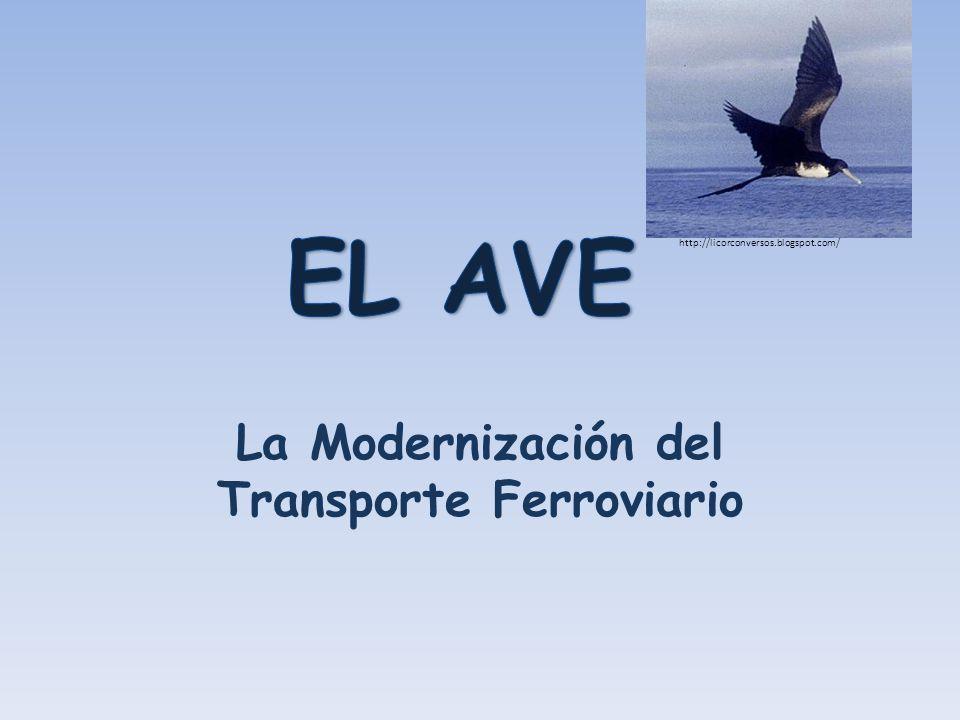 EL SISTEMA FERROVIARIO ACTUAL - Una red de trenes cubre toda la península española - La compañía se llama RENFE (Red Nacional de los Ferrocarriles Españoles) - Transporta pasajeros y también mercancías (incluyendo el correo)