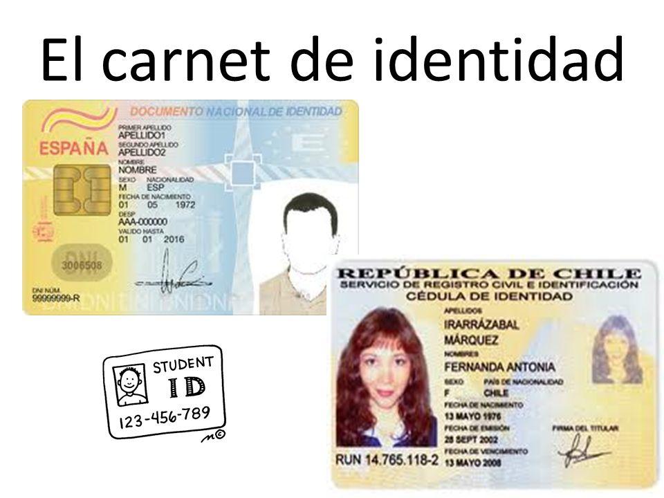 El carnet de identidad