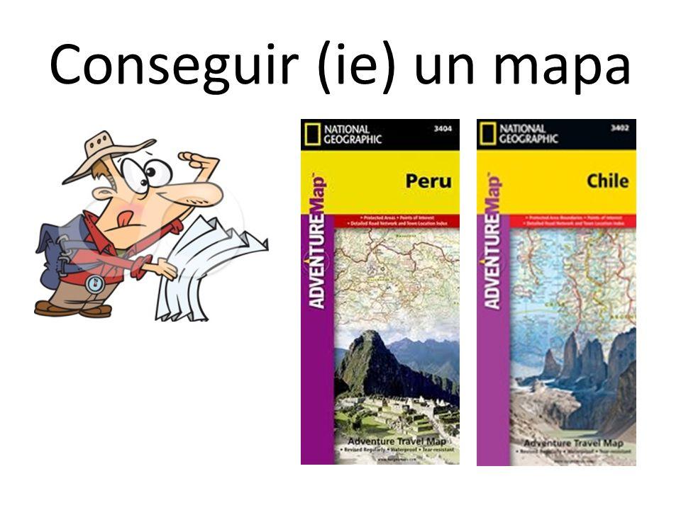 Conseguir (ie) un mapa