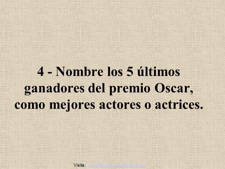 3 - Nombre a 10 ganadores del premio Nobel.