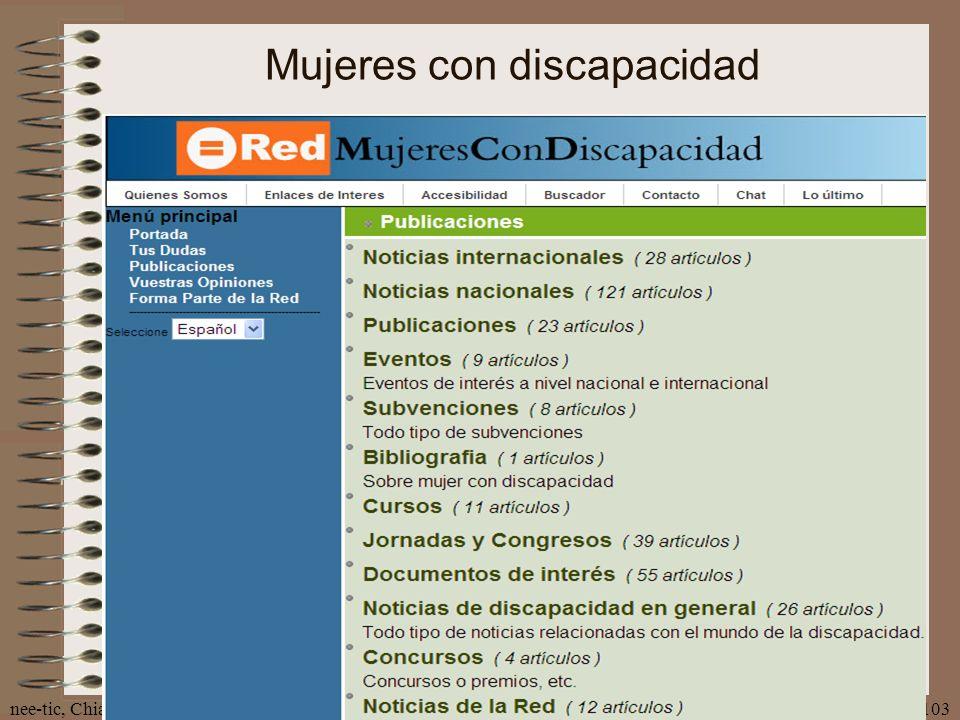 nee-tic, Chiapas, abril 2007103 Mujeres con discapacidad