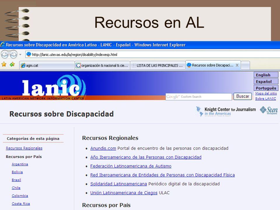 nee-tic, Chiapas, abril 2007110 Recursos en AL
