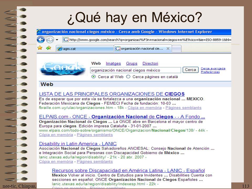 nee-tic, Chiapas, abril 2007113 ¿Qué hay en México?