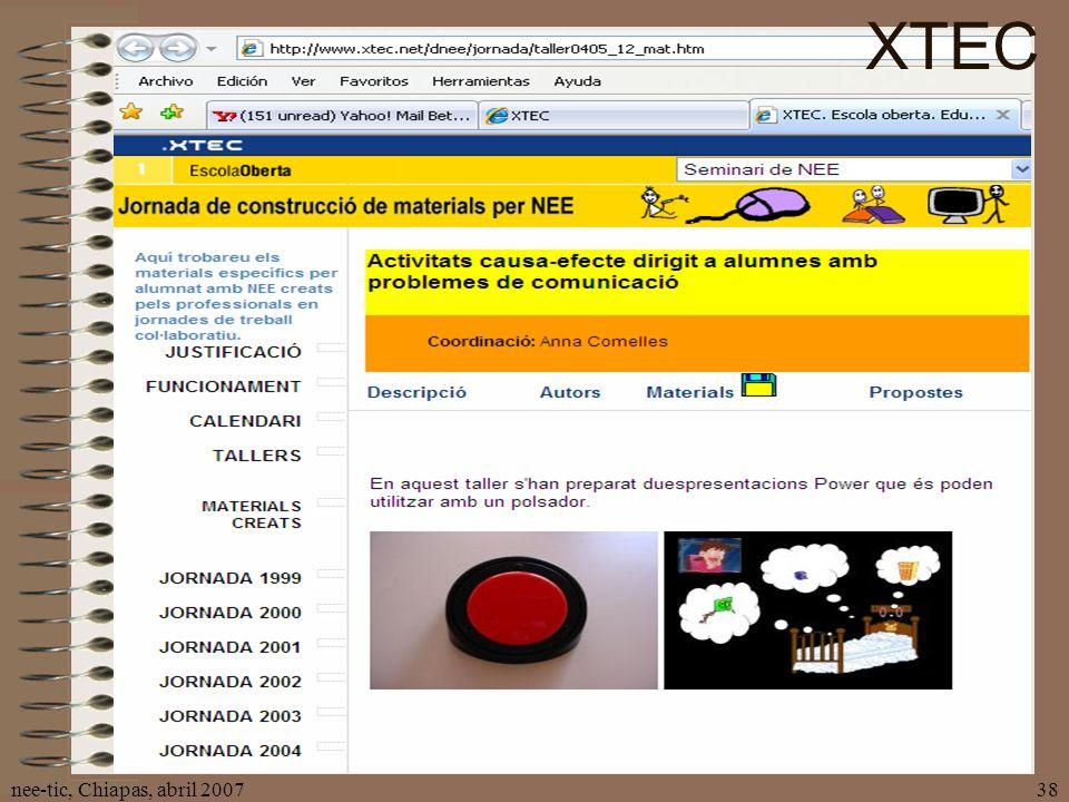 nee-tic, Chiapas, abril 200738 XTEC