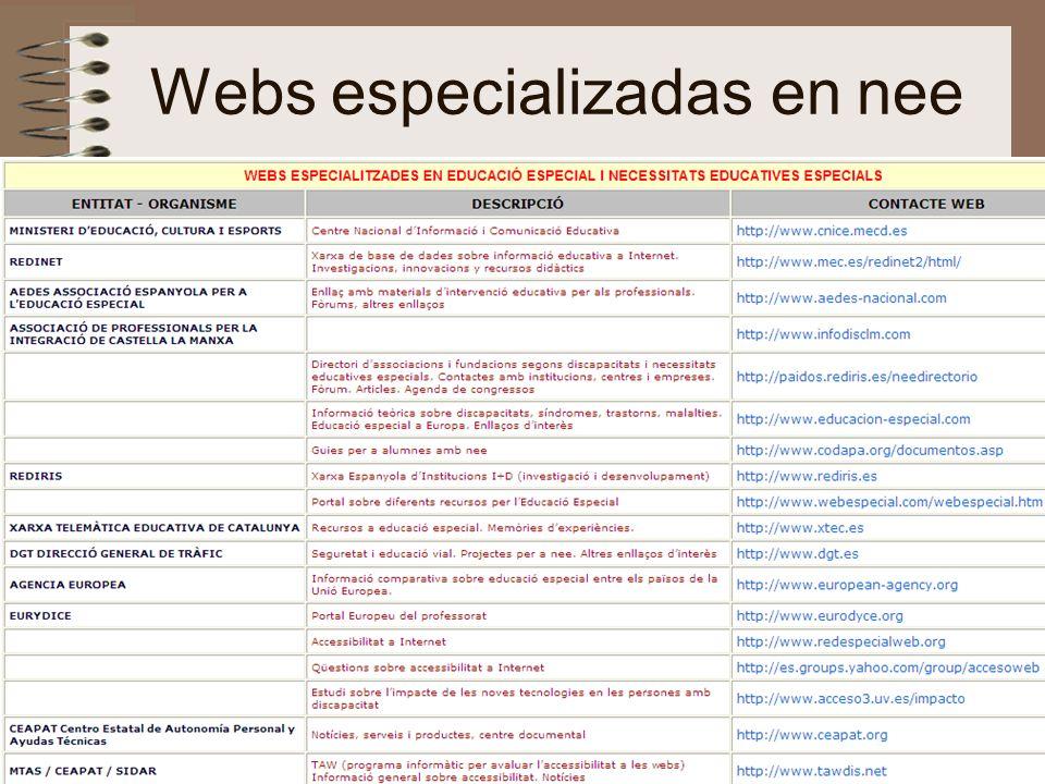 nee-tic, Chiapas, abril 200759 Webs especializadas en nee