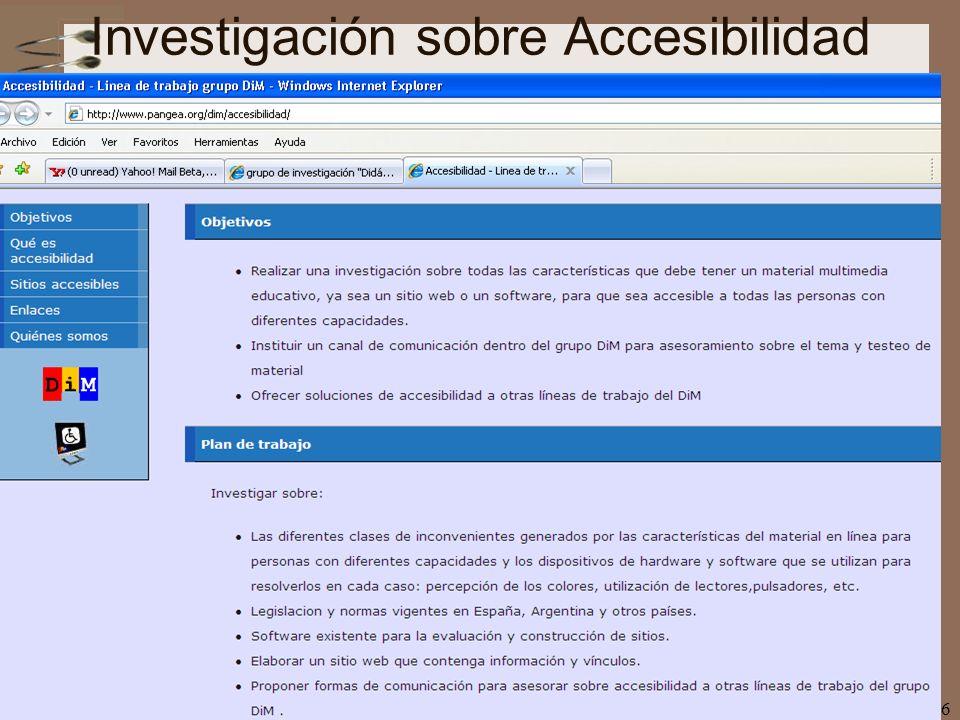 nee-tic, Chiapas, abril 200766 Investigación sobre Accesibilidad