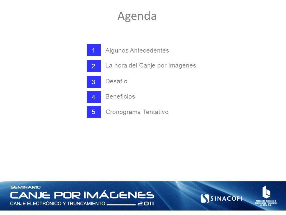 Agenda 1 Algunos Antecedentes 2 La hora del Canje por Imágenes 3 Desafío 4 Beneficios Cronograma Tentativo 5