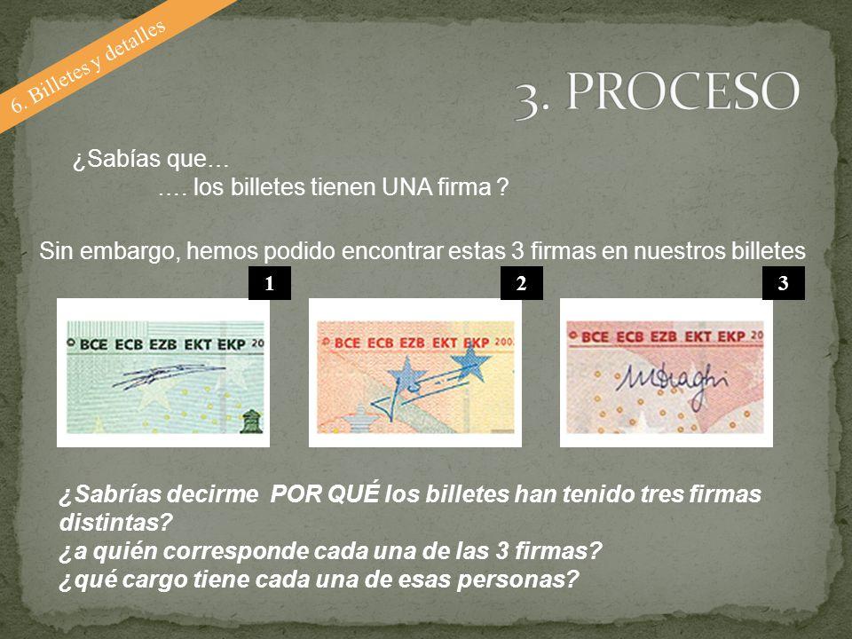 ¿Sabías que… …. los billetes tienen UNA firma ? ¿Sabrías decirme POR QUÉ los billetes han tenido tres firmas distintas? ¿a quién corresponde cada una