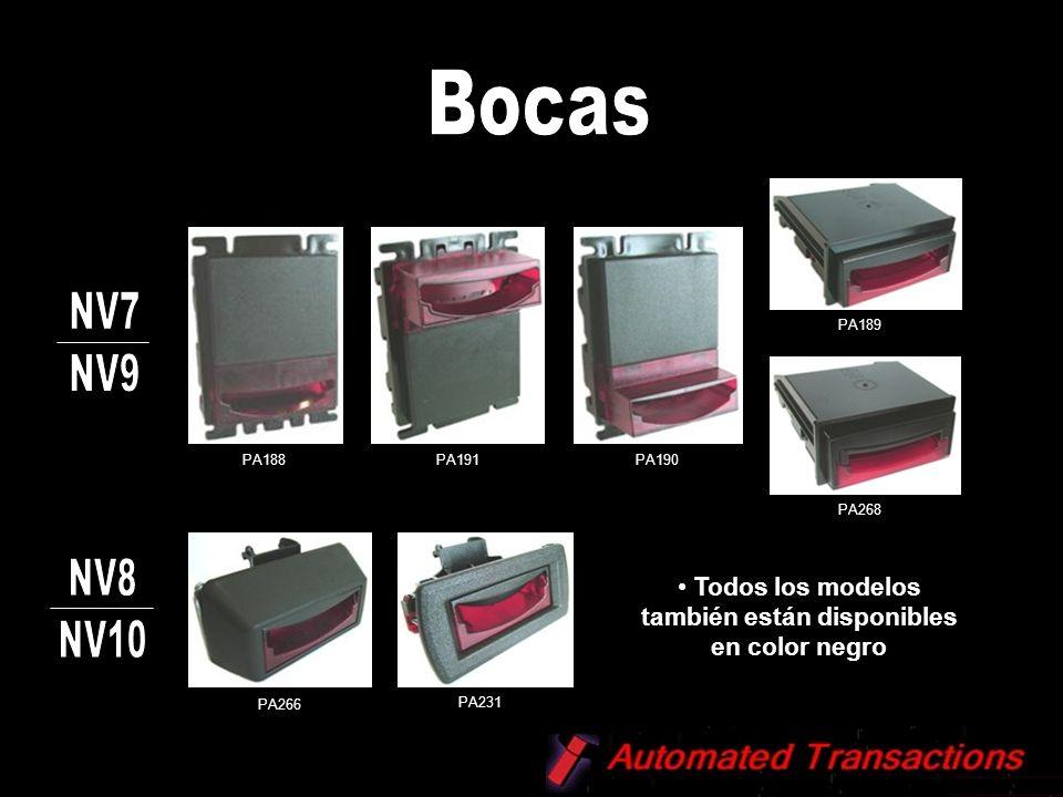 Capacidad: 300 billetes Capacidad: 600 billetes Extraíble PA185 / 300C PA192 / 300 S PA193 / 600 C PA194 / 600 S
