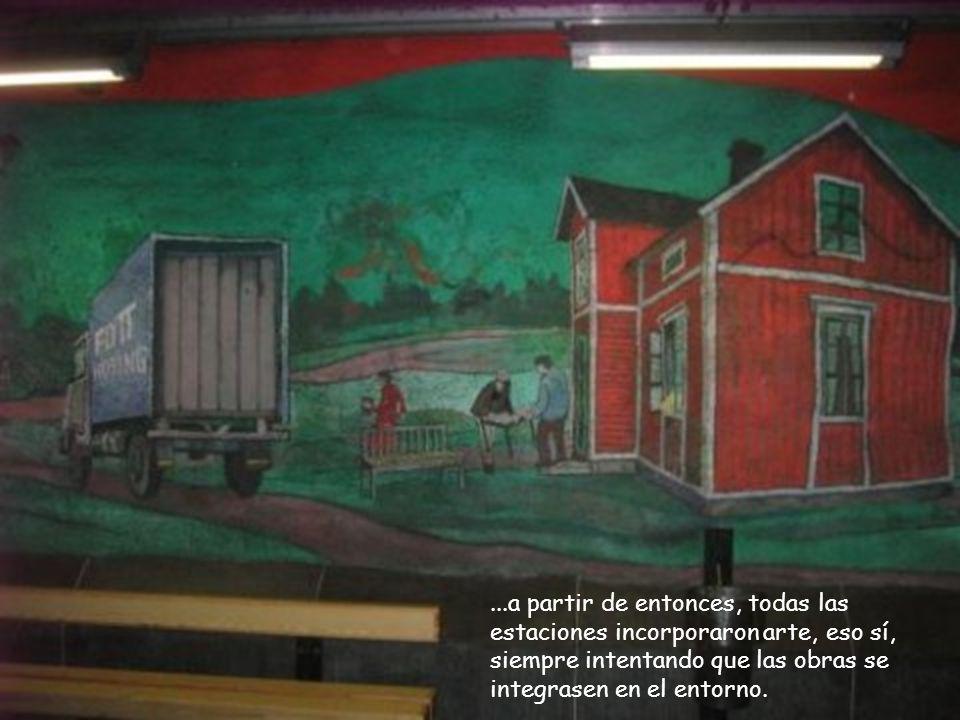La primera línea del metro de Estocolmo se abre en 1950,