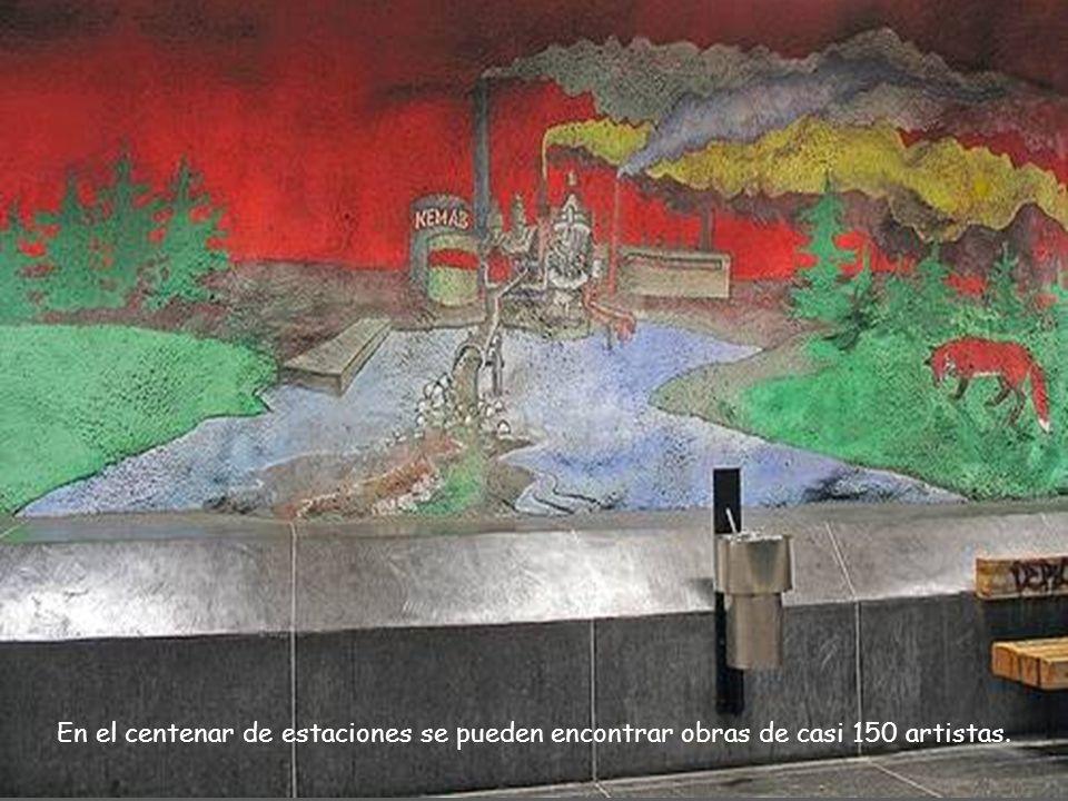 ...a partir de entonces, todas las estaciones incorporaron arte, eso sí, siempre intentando que las obras se integrasen en el entorno.