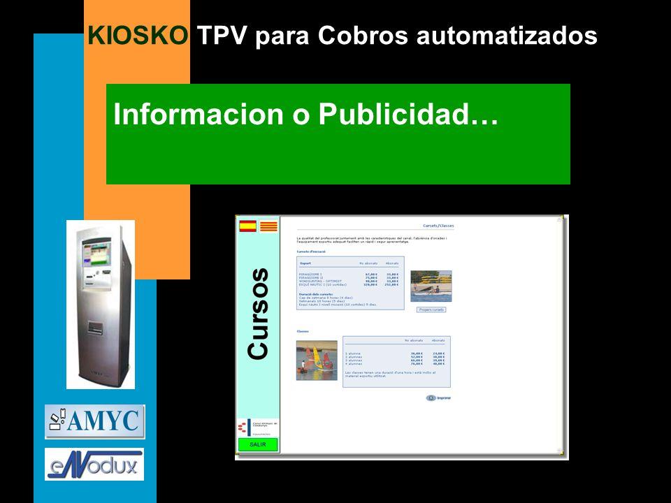 KIOSKO TPV para Cobros automatizados Informacion o Publicidad…