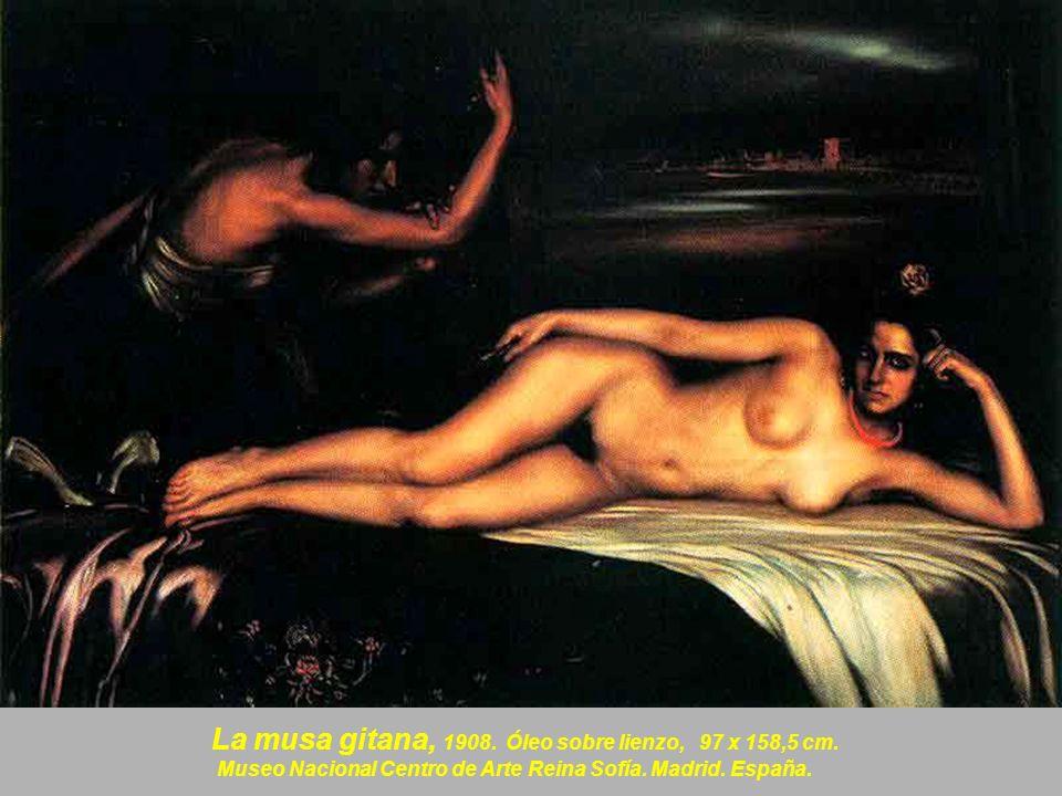 La nieta de la Trini, 1908, Óleo sobre lienzo.97 x 158,5 cm.
