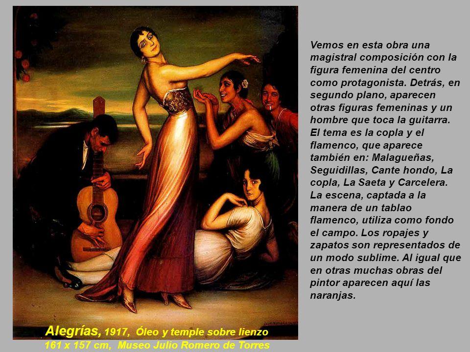 Cartel, 1916, Óleo sobre lienzo, 110 x 165 cm. Museo Julio Romero de Torres.