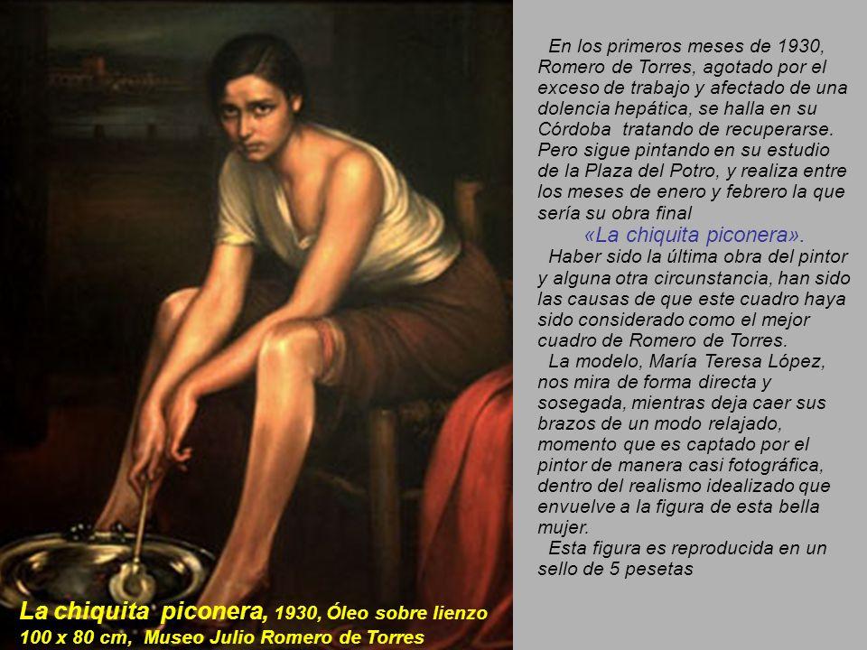 La obra estrella de Julio Romero de Torres, Fuensanta sale a la venta con una estimación de 600.000 - 900.000 el 14 de noviembre de 2007 en la sede londinense en New Bond Street.