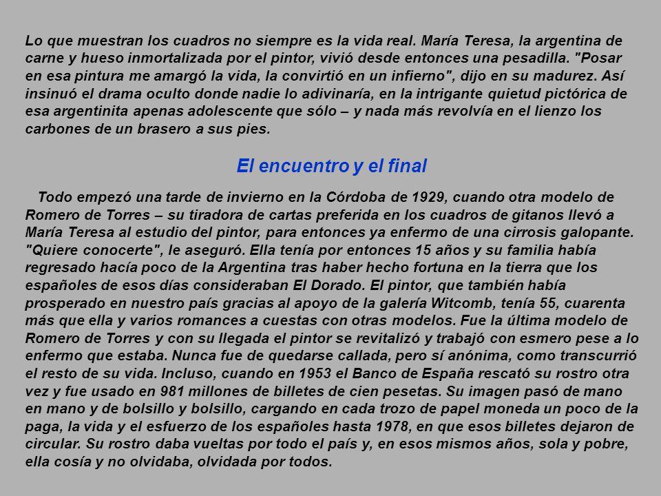Esta es la historia de la modelo, argentina ella, más famosa de Julio Romero De Torres.