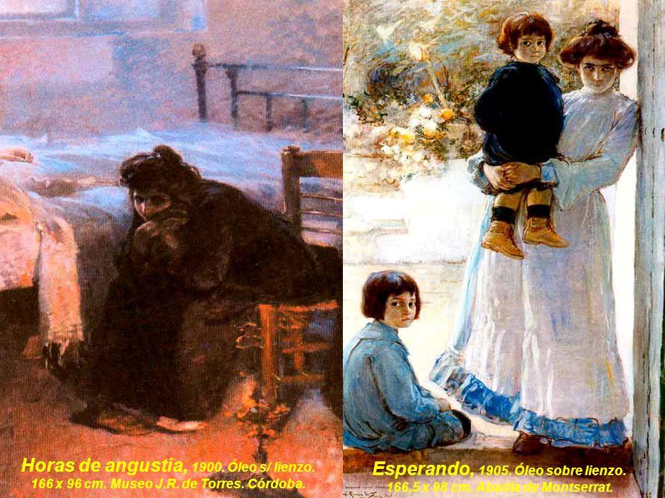 Horas de angustia, 1900.Óleo s/ lienzo. 166 x 96 cm.