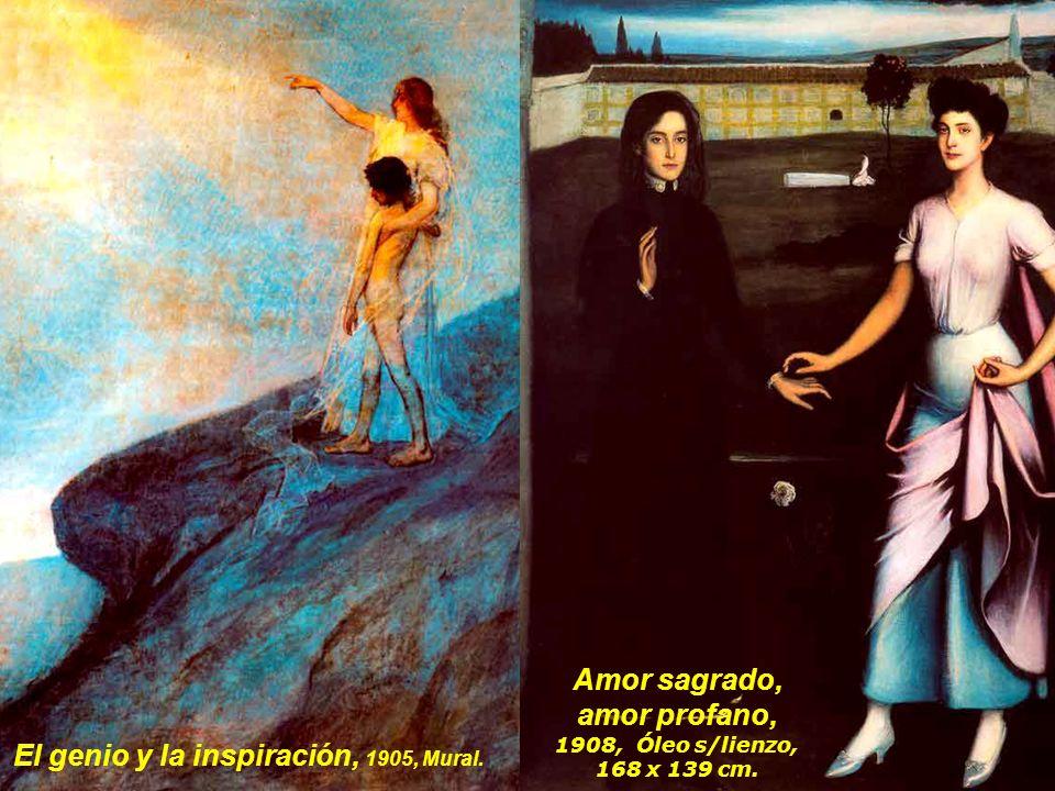 El genio y la inspiración, 1905, Mural.
