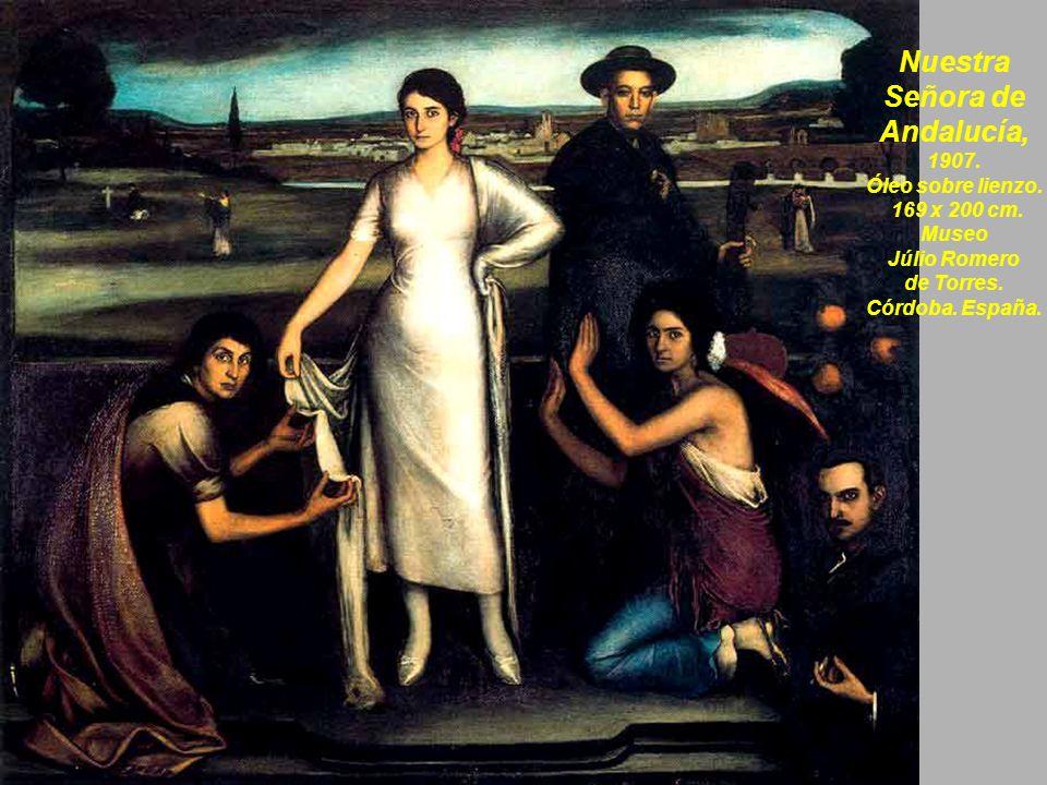 En la ribera, 1928, Óleo sobre lienzo, 110 x 81 cm.