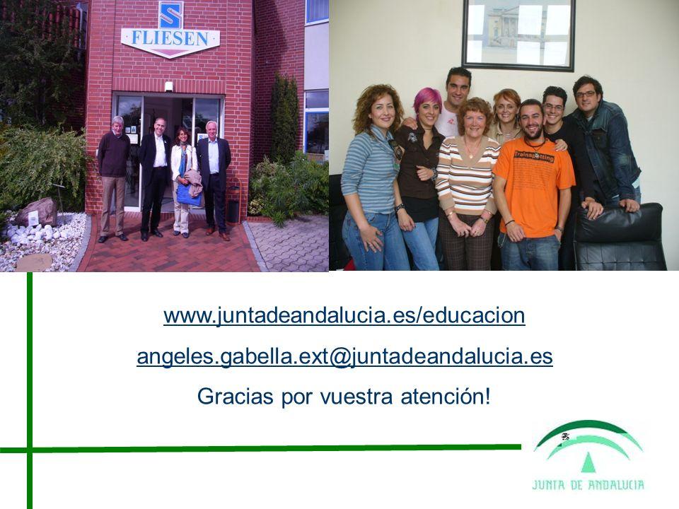 www.juntadeandalucia.es/educacion angeles.gabella.ext@juntadeandalucia.es Gracias por vuestra atención!