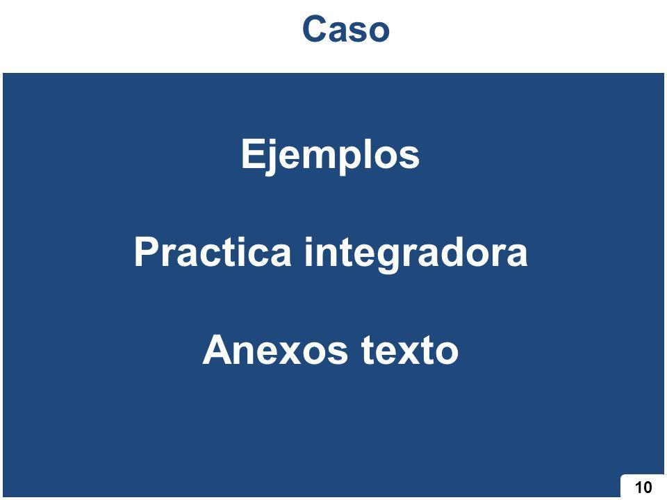 10 Caso Ejemplos Practica integradora Anexos texto