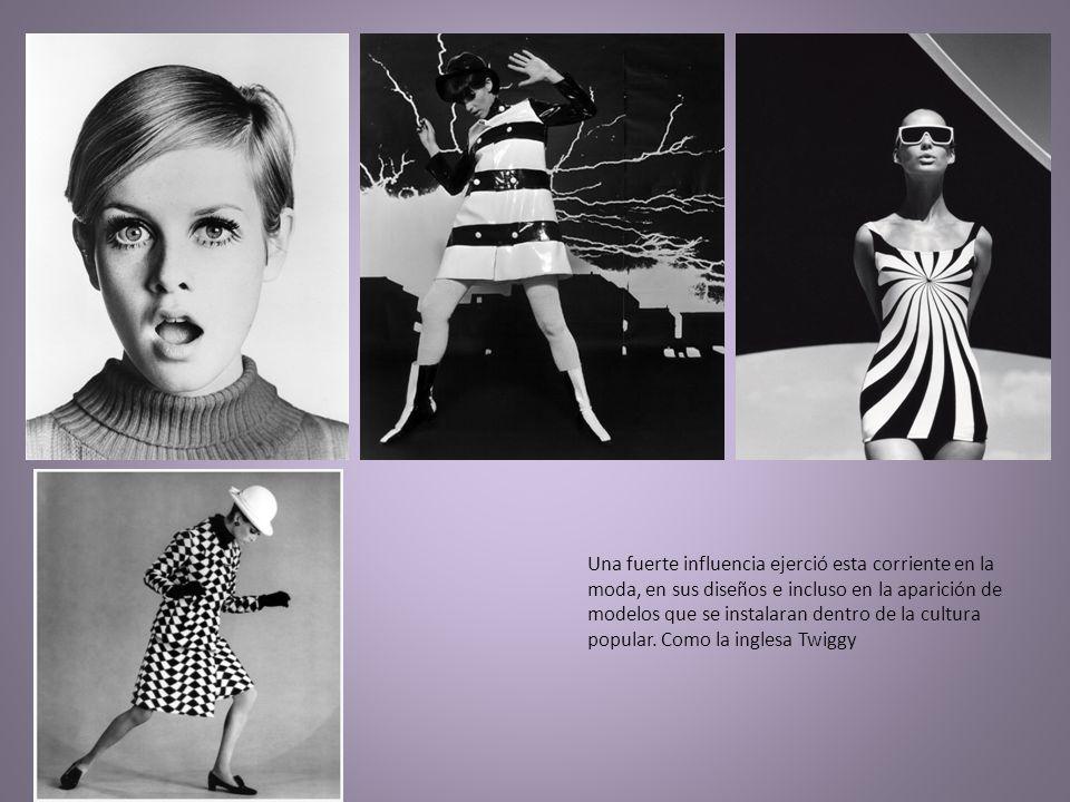 Una fuerte influencia ejerció esta corriente en la moda, en sus diseños e incluso en la aparición de modelos que se instalaran dentro de la cultura po
