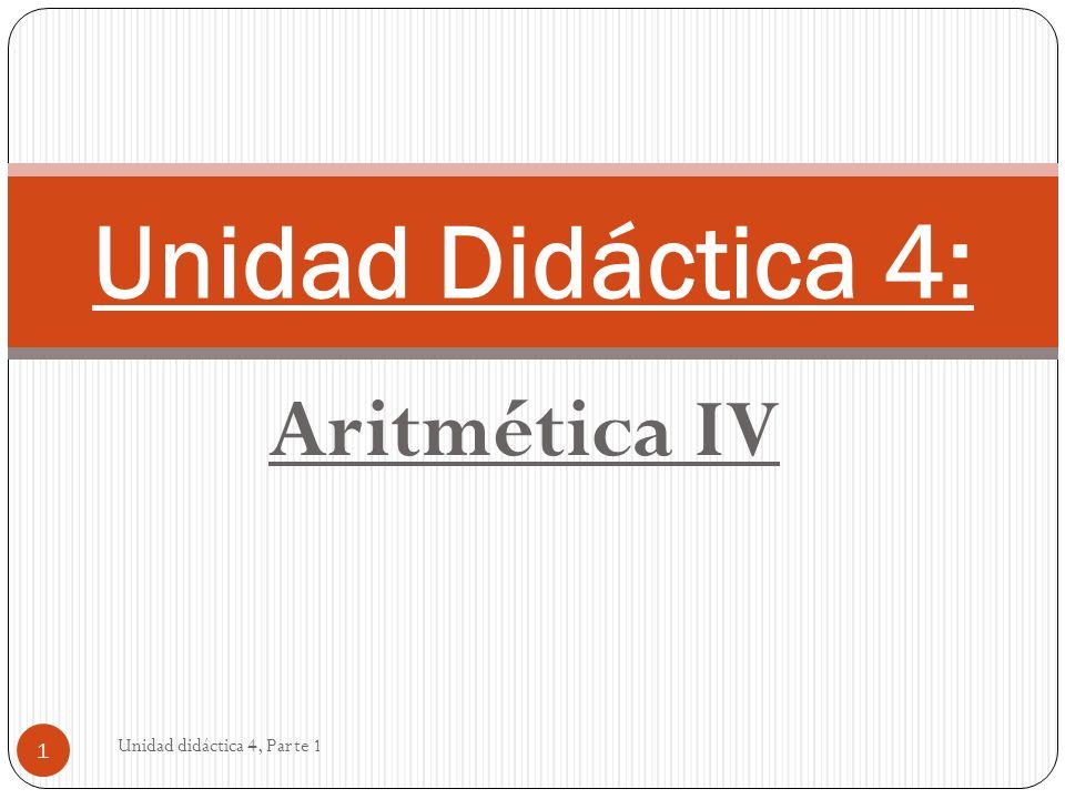 Unidad didáctica 4, Parte 1 22 Realiza
