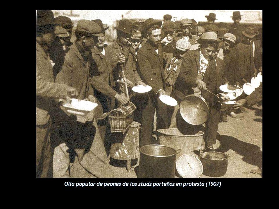 Olla popular de peones de los studs porteños en protesta (1907)