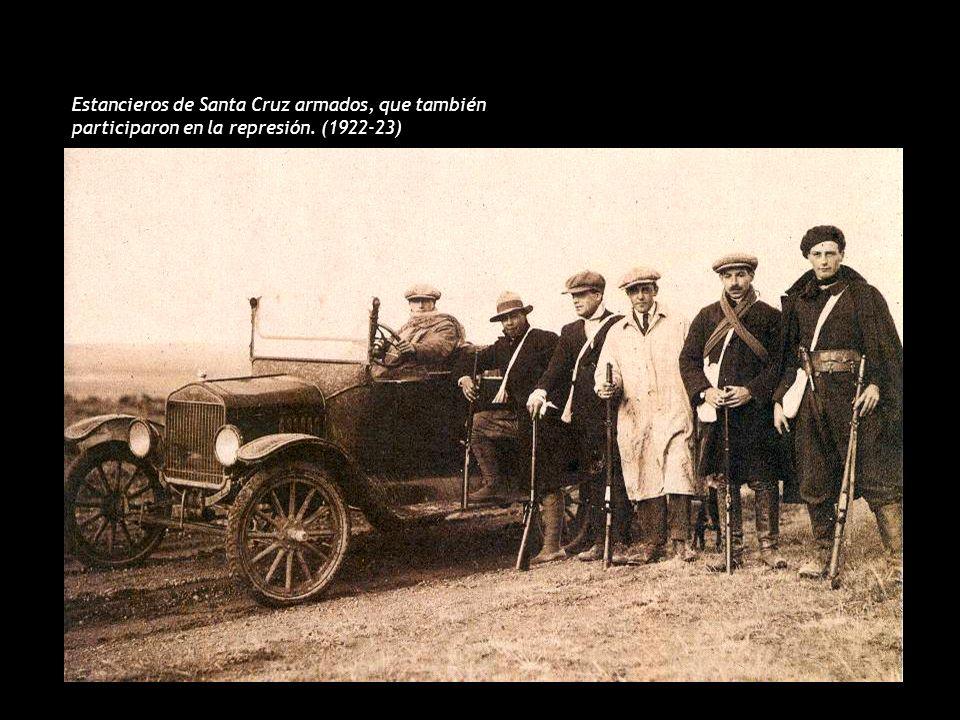 Estancieros de Santa Cruz armados, que también participaron en la represión. (1922-23)