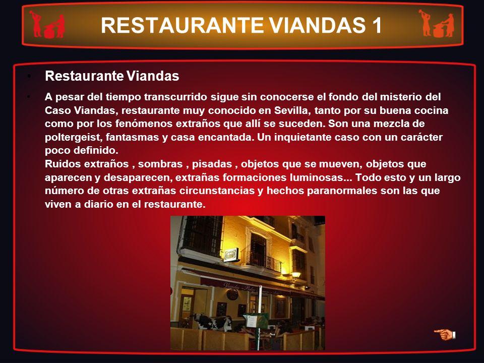 RESTAURANTE VIANDAS 1 Restaurante Viandas A pesar del tiempo transcurrido sigue sin conocerse el fondo del misterio del Caso Viandas, restaurante muy