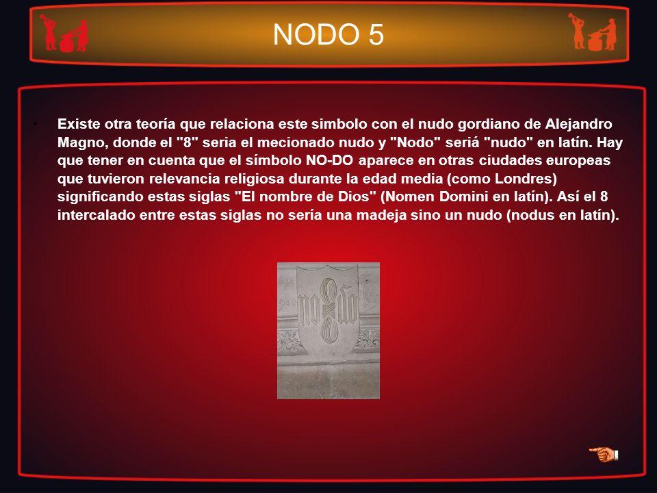NODO 5 Existe otra teoría que relaciona este simbolo con el nudo gordiano de Alejandro Magno, donde el